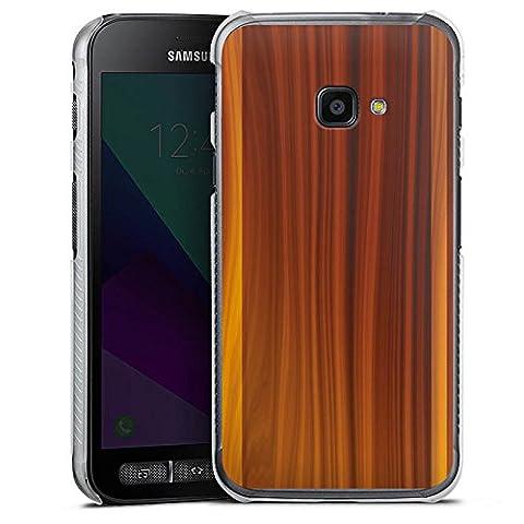 Samsung Galaxy XCover 4 Hülle Case Handyhülle Walnussholz Holz Look