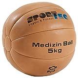 Medizinball Fitnessball Gewichtsball Rehaball aus Echtem Leder 30 cm, 5 kg