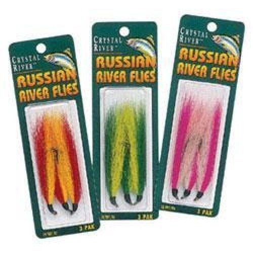 Crystal River Green/White Russian River Fly 3 Pack - Great For Steelhead Trout