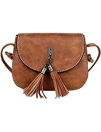 ESAILQ - Bolso mochila  de Piel para mujer