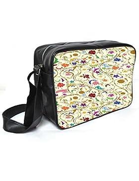 Snoogg buntes Blumenmuster Leder Unisex Messenger Bag für College Schule täglichen Gebrauch Tasche Material PU