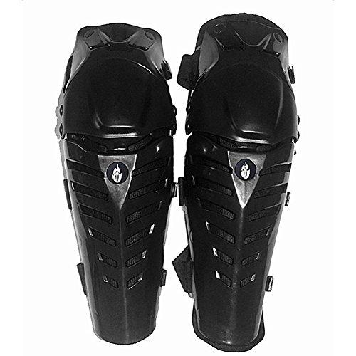 Una Coppia Ginocchiere Outdoor Moto motocross Protector Pattinaggio Armatura BC313 Taglia Unica Nero