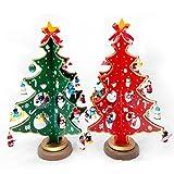 Demarkt Künstliche Weihnachtsbäume Weihnachten Deko Tannenbaum Weihnachten Geschenk DIY Dekoration Holz Grün 21cm