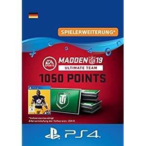 Madden NFL 19 Ultimate Team 1050 Points Pack – 1050 Points DLC | PS4 Download Code – deutsches Konto