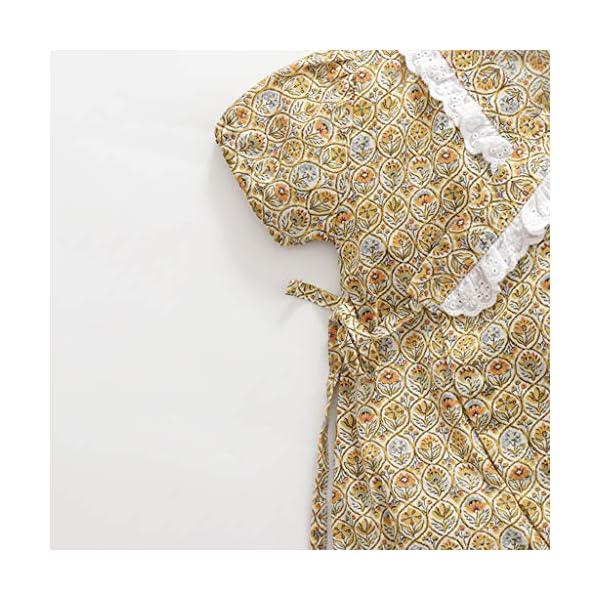 HEETEY Pijama para niña, para recién Nacidos, de Manga Corta, diseño Floral, Mono, sin Mangas, de una Sola Pieza, para… 4