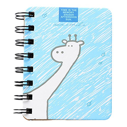 Bedruckt Spirale Notebook Memo scratchpads für Studenten Kinder Schule Büro 1, Papier, Blau, 10.3 x 8 cm ()
