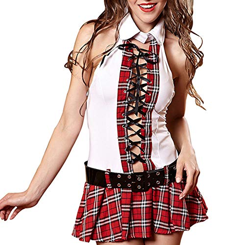 Moojm Women Es Lingerie Student Uniform Splice Fancy -