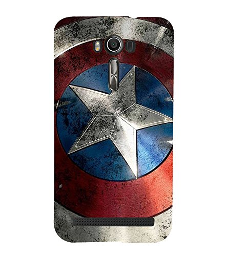 printtech Superhero Shield Star Back Case Cover for Asus Zenfone 2 Laser ZE550KL / Asus Zenfone 2 Laser ZE550KL (5.5 Inches)