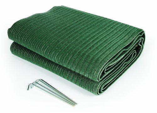 Reversible Patio-mat (Camco 42880 Vorzelt-Wendematte, 1,8 x 2,75 m, Grün)