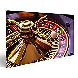 islandburner, Quadro su tela Gioco della roulette con tavolo da gioco e fiches da poker verde Stampa, Foto, Quadri