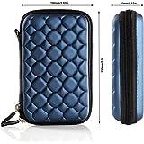 Pruthvik™ Bubble EVA PU Leather Case For 2.5 Inch WD/Seagate/Toshiba/Hitachi/Samsung/Sony/Clickfree/Transcend Portable External Hard Drives - Blue