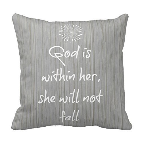 dongpujidiangongsi 13 White Bible Verse On Gray Wood Decoration Pillow Case Cushion Cover 18 X 18