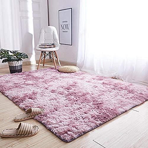 Shshuiyue tappeto pelo lungo morbido soffice morbido peluche tappeto nordico sfumato solido rosa morbido capelli lunghi 200x300 cm tappeto per divani