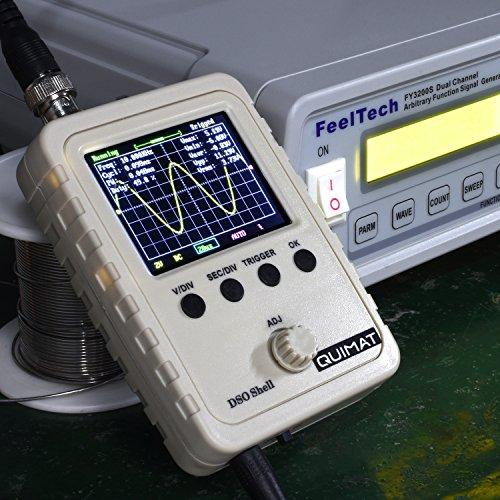 """QUIMAT Nueva Osciloscopio Digital TFT de 2.4"""" con Fuente de Alimentación (Dispositivo Acabado)"""