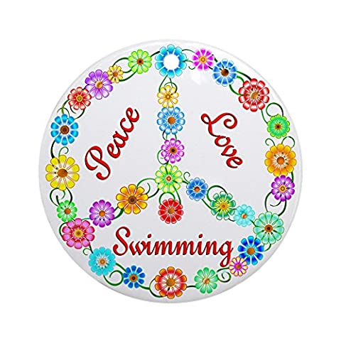 CafePress - Swimming Peace Sign Ornament (Round) - Round Holiday
