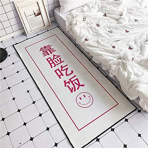 ZCXBB Nordic Net Red Kreative Dollar Girl Garderobe Schlafzimmer Erker Teppich Fußmatten (Color : White) - Teppich Farbstoff