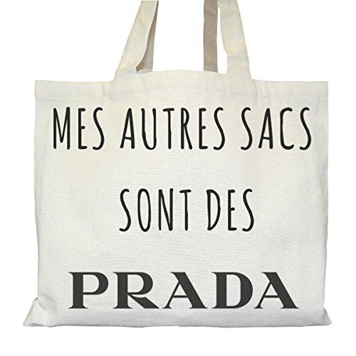 Tote bag Urbain - Soufflet et Poches intérieures - Toile épaisse de coton Bio - Mes autres sacs sont des Prada