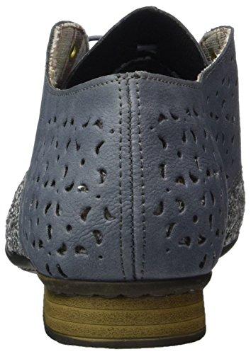 Rieker Damen 51932 Derby Blau (jeans/adria / 14)
