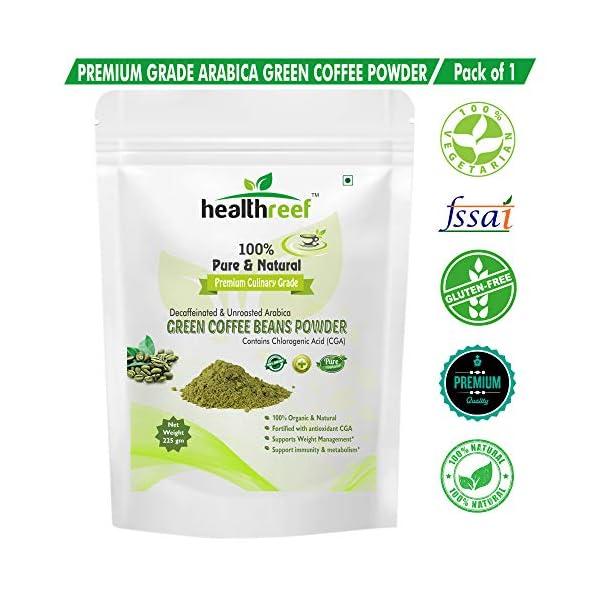 Natural Green Coffee Beans Powder