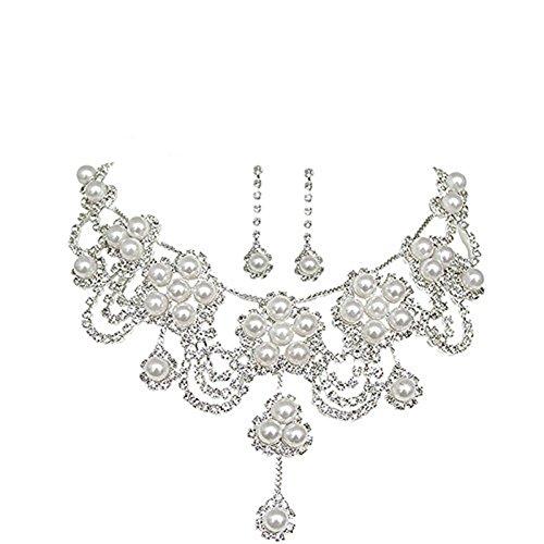 Bella Bridal Nuova festa di nozze strass Teardrop nuziali della collana lampadario orecchini - Strass Strand Orecchini
