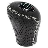 Sumex 2505GWG Möbelknopf Schalthebel aus genarbtem Leder schwarz, Trigger, weiß
