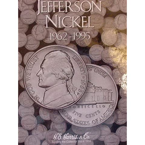 New Harris Jefferson Nickel 1962-1995 Coin Folder 2680 by The United States Mint