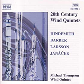 Hindemith / Barber / Larsson / Janacek: Wind Quintets