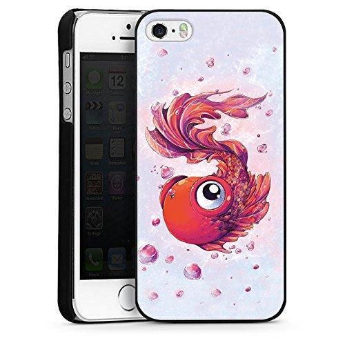 Apple iPhone 4 Housse Étui Silicone Coque Protection Poisson Poisson rouge Bande dessinée CasDur noir