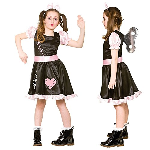 B-kreative Frauen-Mädchen gebrochen Rag Raggy Doll Annabelle Zombie Halloween Fancy Kleid (Aufwind DOLL/Kinder (5 bis 7 Jahre - Rag Doll Mädchen Kind Kostüm
