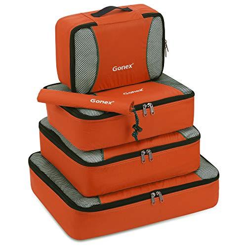 Gonex Organisateurs de bagage Sacs rangement de valise Voyage 5 pcs Orange