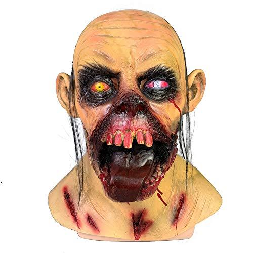 Story of life Horror Ghost Face Clown Maske Halloween Weihnachten Funny Bar Dance Party Requisiten Monster Latex Scary Joker Maske Kopfbedeckung (Adult Funny Ghost Kostüm)