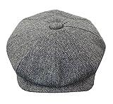 King Herrenmütze Tweed Design Peaky Blinders Grandad Vintage Klassisch Rabatt Preis