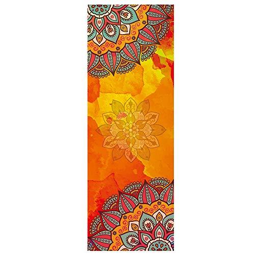XBECO Dicke rutschfeste Yogatücher Yoga-Handtuch Matten-Tuch Mit intelligenten Ecktaschen Und elastische Schleife rutschfest Heißes Yoga-Handtuch Yogamatte Bikram Trainieren Pilatus Fitness,A