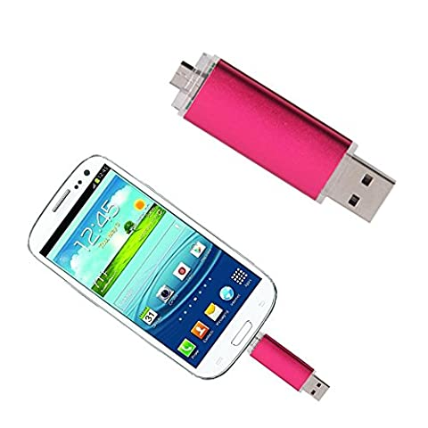 Moobom Dual Transfer USB 2.0 Memory Stick into Micro USB for Android Smartphone and Tablet 8 GB Portable Fashionable Flash Drive Mini Thumb Drive