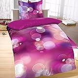 Bertels Textilhandels GmbH Mikrofaser Bettwäsche Wende 135x200 cm 2 tlg Kreise Lila Violett