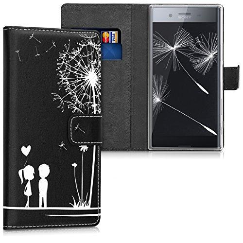 kwmobile Sony Xperia XZ Premium Hülle - Kunstleder Wallet Case für Sony Xperia XZ Premium mit Kartenfächern und Stand