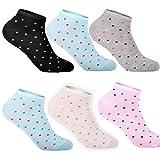 12 Paar L&K-II Damen Sneaker Socken Mädchen Füßlinge Bambus mit