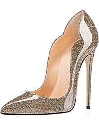 d78e93382c38a EDEFS Scarpe col Tacco Donna Classico Ritaglio High Heels Chiuse Davanti  Scarpa