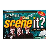 Scene It? Harry Potter - 2nd Edition DVD Trivia Board Game with Harry Potter Themed Metal Movers, Oversized Dice, 160 Trivia Cards, 30 Harry Potter Themed House Points Cards and a DVD by Mattel