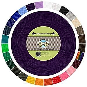 diseño web wp: Country Brook diseño 1Inch Morado Polypro Webbing, 100yards