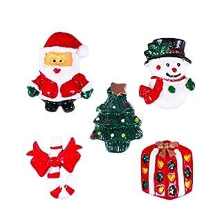 ULTNICE 15pcs Miniatura Navidad Accesorios Resina Snowman Santa Claus árbol de Navidad Candy Cane