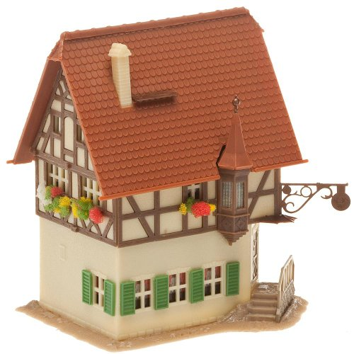 FALLER FA232504 – Gasthaus Post, Zubehör für die Modelleisenbahn, Modellbau