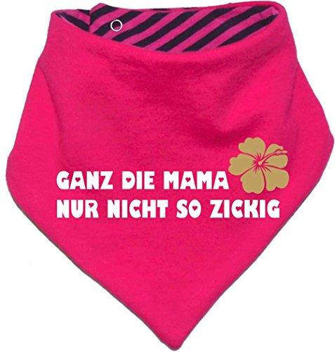 Kinder Wendehalstuch uni/gestreift (Farbe pink-navy) (Gr. 1 (0-74)) Ganz die Mama nur nicht so zickig