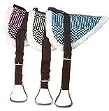 Bareback Pad Memphis komplettes Set Pony SHETTY Farbe: braun Reitpad Sattelkissen auch für Holzpferde geeignet