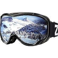 ZIONOR Lagopus Skibrille Verspiegelt Snowboard Brille mit OTG UV-Schutz Anti-Nebel Schneebrille für Herren Damen Jugend