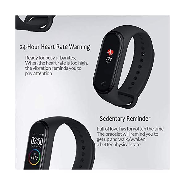 Xiaomi Band 4 Pulsera de Fitness Inteligente Monitor de Ritmo cardíaco 135 mAh Pantalla Color Bluetooth 5.0 más Reciente 2019, Negro 4