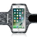 NALIA Fitness Armband Sport Handy-Tasche, Reflektierende Oberarmtasche zum Joggen, Wandern, Radfahren für Smartphones bis zu 5,5 Zoll z.B. iPhone, Samsung, HTC, Sony, Huawei UVM, Farbe:Schwarz