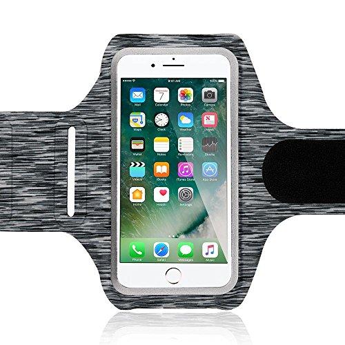 Fitness Armband Sport Handy-Tasche von NICA, Reflektierende Oberarmtasche zum Joggen, Wandern, Radfahren für Smartphones bis zu 5,5 Zoll z.B. iPhone, Samsung, HTC, Sony, Huawei uvm., Farbe:Schwarz