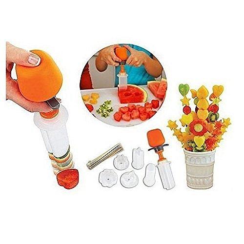 Haodasi 6 Shape Convenient Vegetables Fruit Maker Kitchen Tool Food Decorator Cutter Fruit Decorator