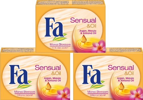 Fa Festseife Sensual & Oil Monoiblüte, 3er Pack (3 x 100 g)